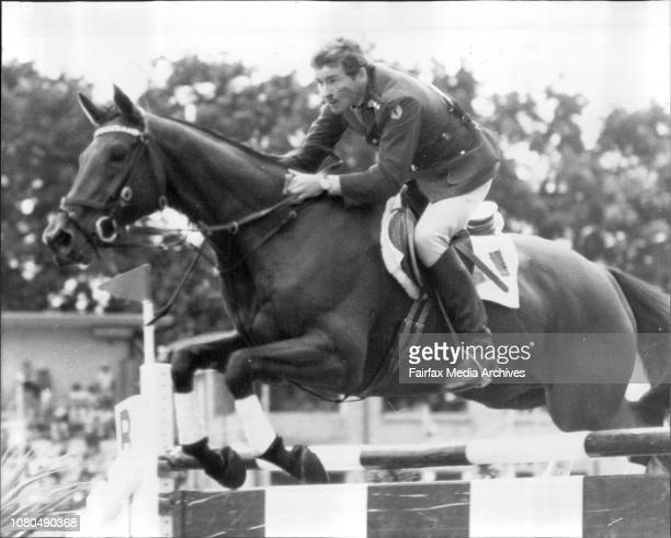 Benson and Hedges show jumping at Wentworth Park todayBenson and Hedges Grand Prix eventCaptain Gerry Mullins on Spring Melody January 13 1980