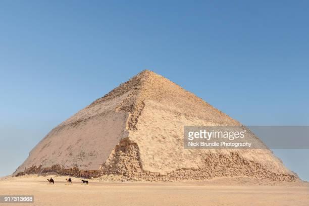 Bent pyramid at Dahshur, Cairo, Egypt.