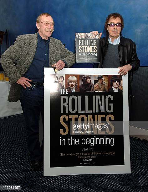 Bent Reg and Bill Wyman during 2006 London Book Fair The Rolling Stones In the Beginning Book Launch at ExCel in London Great Britain