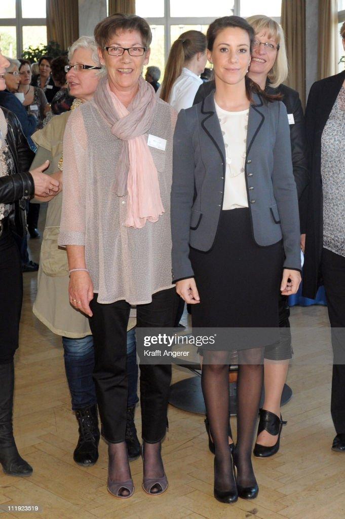 Bente Lassen (L) and Princess Marie Of Denmark (R) pose during the ErhvervsKvinders Landskonference 2011 at Hotel des Nordens on April 9, 2011 in Harrislee, Germany.