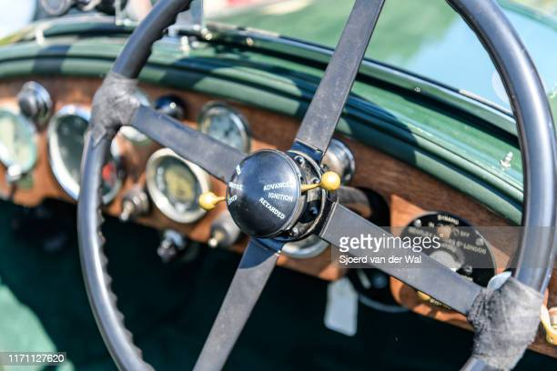 Bentley 30 Litre Chalmer Hoyer coachwork dashboard 1923 vintage classic car on display at the 2019 Concours d'Elegance at palace Soestdijk on August...