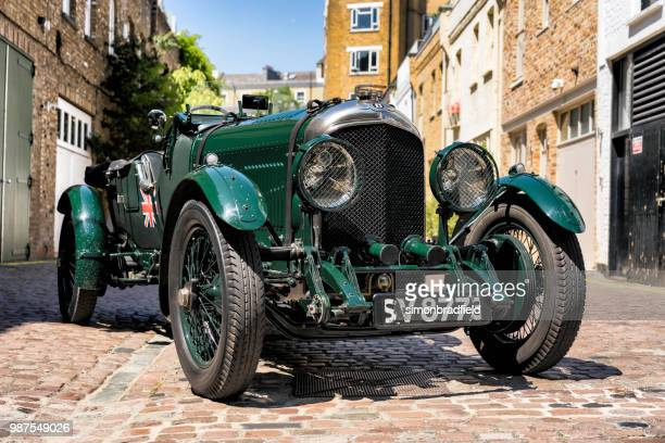 1923 bentley 3-4.5 litre le mans in london - bentley stock pictures, royalty-free photos & images