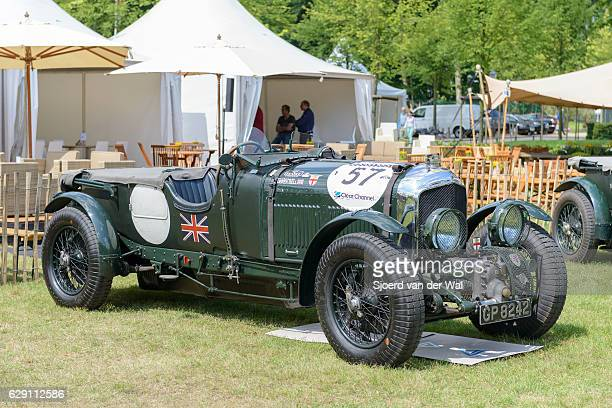 "bentley 4 1/2 litre supercharged in british racing green - ""sjoerd van der wal"" stock pictures, royalty-free photos & images"