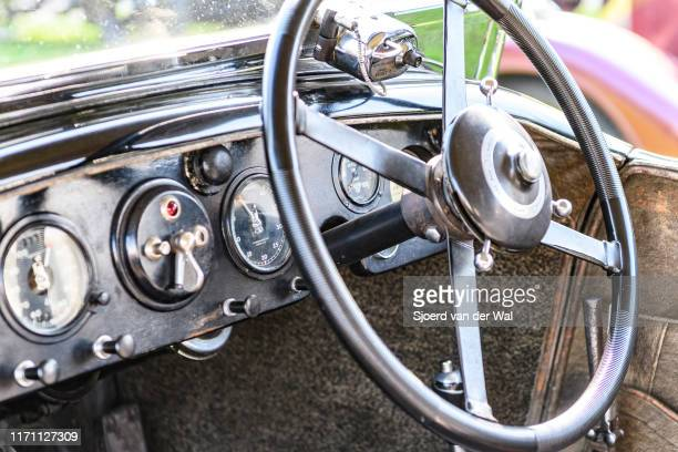 Bentley 4 Liter Vandenplas coachwork interior on display at the 2019 Concours d'Elegance at palace Soestdijk on August 25 2019 in Baarn Netherlands...