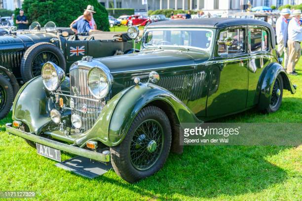 Bentley 425 Litre Hooper coachwork 1936 vintage classic car on display at the 2019 Concours d'Elegance at palace Soestdijk on August 25 2019 in Baarn...