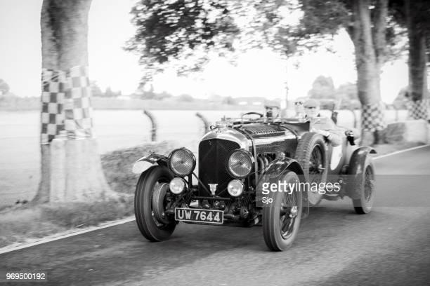 bentley 4.5 litre le mans vanden plas vintage classic car - 1920 car stock photos and pictures