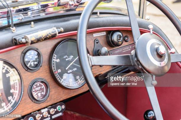 Bentley 65 Litre Vandenplas coachwork dashboard on display at the 2019 Concours d'Elegance at palace Soestdijk on August 25 2019 in Baarn Netherlands...