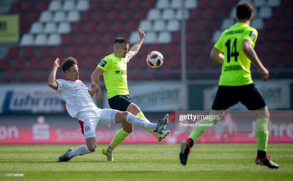 DEU: Hallescher FC v SV Wehen Wiesbaden - 3. Liga