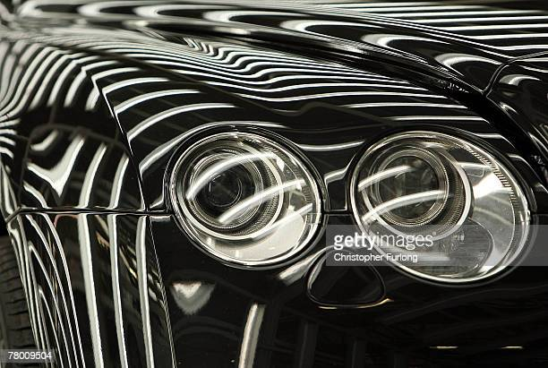Bentley car in an inspection light tunnel at the Bentley Motors Factory on 19 November, 2007 in Crewe, England. The Cheshire based company has posted...