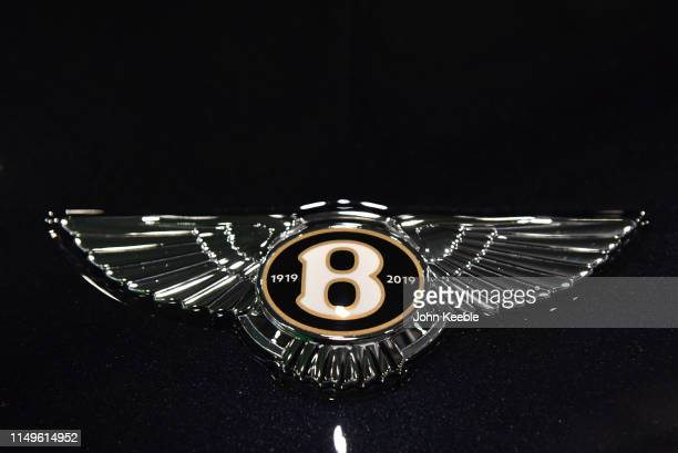 Bentley Centenary Specification Bonnet Badge is displayed during the London Motor and Tech Show at ExCel on May 16 2019 in London England The London...