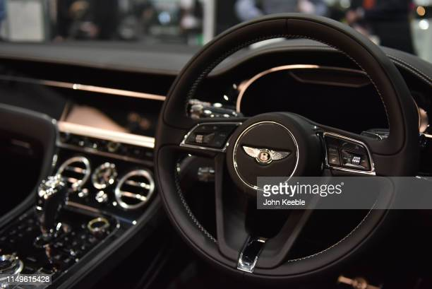 Bentley Centenary Specification Continental GT Convertible interior is displayed during the London Motor and Tech Show at ExCel on May 16 2019 in...