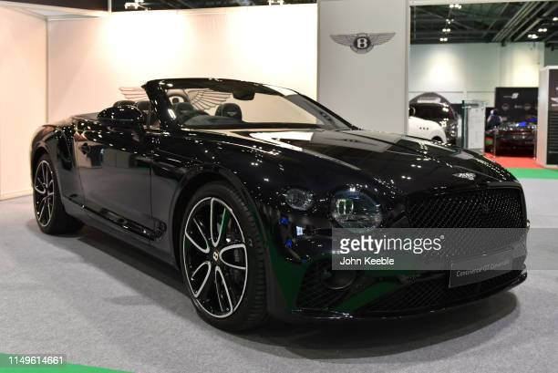 Bentley Centenary Specification Continental GT Convertible is displayed during the London Motor and Tech Show at ExCel on May 16, 2019 in London,...