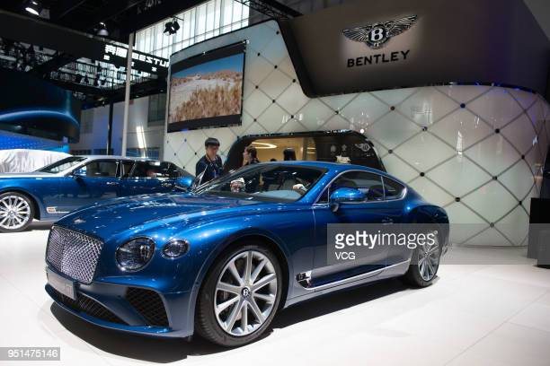 Bentley Continental GT car is on display during the Auto China 2018 at China International Exhibition Center on April 25 2018 in Beijing China Auto...