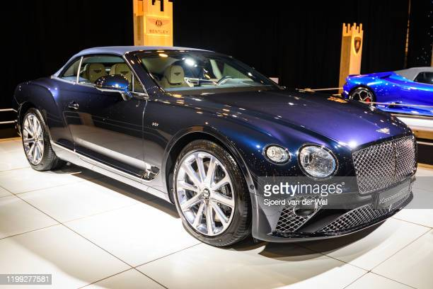 Bentley Continental GT Convertible GTC V8 on display at Brussels Expo on January 8 2020 in Brussels Belgium The Bentley Continental GT is available...