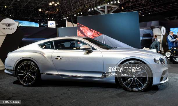 Bentley Continental GT seen at the New York International Auto Show at the Jacob K Javits Convention Center in New York