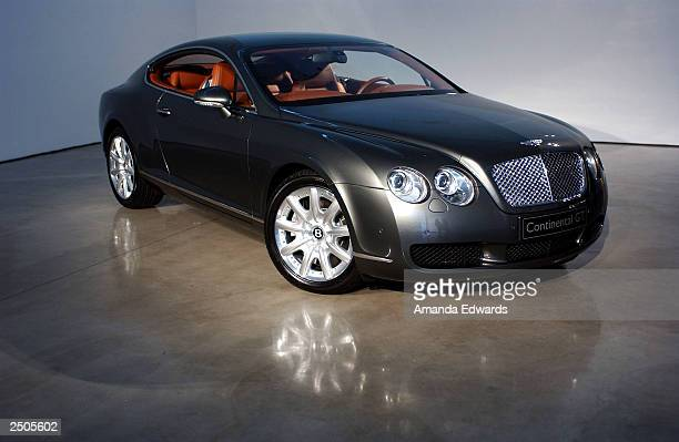 Bentley Continental GT sits on display as part of Pure Anticipation exhibition launch party at the Gagosian Gallery on September 17 2003 in Beverly...