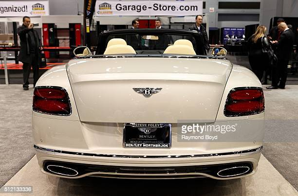Bentley Continental GT Speed Convertible is on display at the 108th Annual Chicago Auto Show at McCormick Place in Chicago Illinois on February 12...