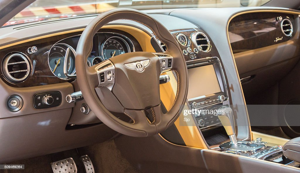 Bentley Continental Gt Speed Sports Car Interior Stock Photo Getty