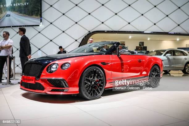 Bentley Contintal Supersports on display during the second press day of the Geneva Motor Show 2017 at the Geneva Palexpo on March 8 2017 in Geneva...