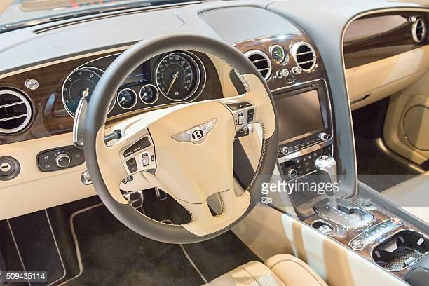 Bentley Flying Spur V8 luxury sedan dashboard
