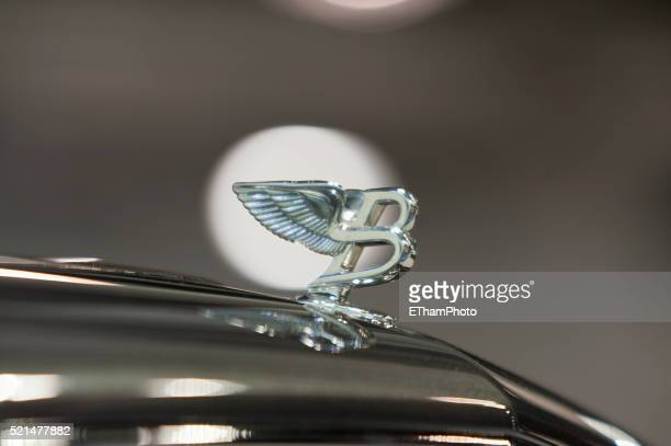 bentley hood ornament - hood ornament stock pictures, royalty-free photos & images