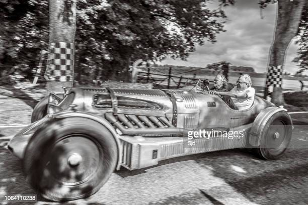 bentley race car with rolls royce merlin airplane engine - v12 stock photos and pictures