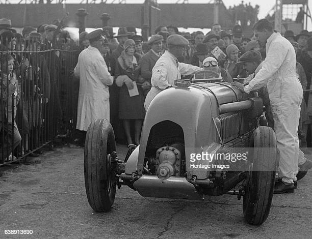 Bentley Singleseater 4398S cc Event Entry No 1 Driver Birkin HRS Finished 1st at 11781 mph Car colour is Blue Place Brooklands BARC Date 21430 Artist...
