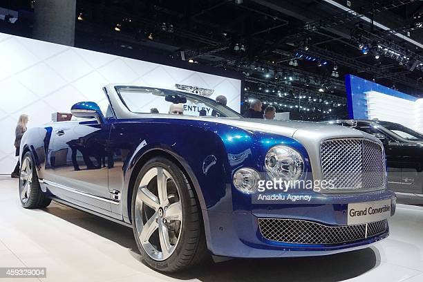 Bentley's Grand Convertible is presented during Los Angeles Auto Show 2014 at LA Covention Center on November 20 2014