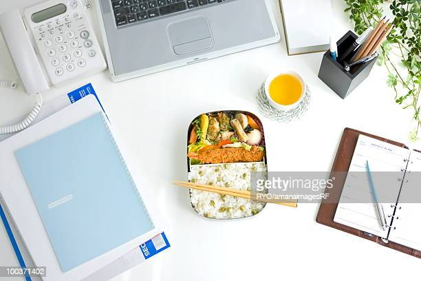 Bento box (Lunch box) on a desk