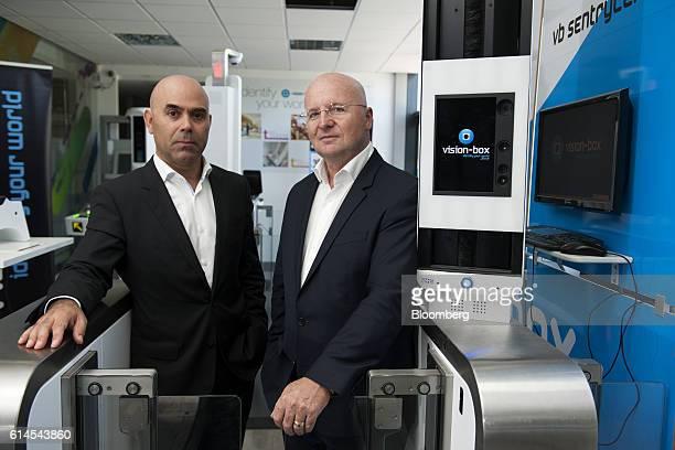 Bento Correia chairman of VisionBox Solucoes De Visao Por Computador SA left and Miguel Leitmann chief executive officer of VisionBox Solucoes De...