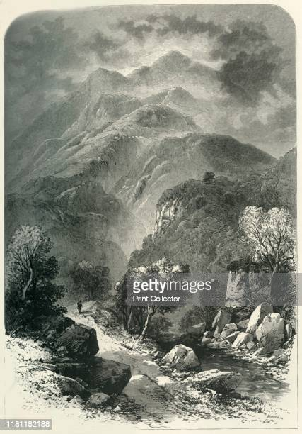 Benvenue' circa 1870 Ben Venue a mountain in the Trossachs area of Scotland From Picturesque Europe The British Isles Vol II [Cassell Petter Galpin...