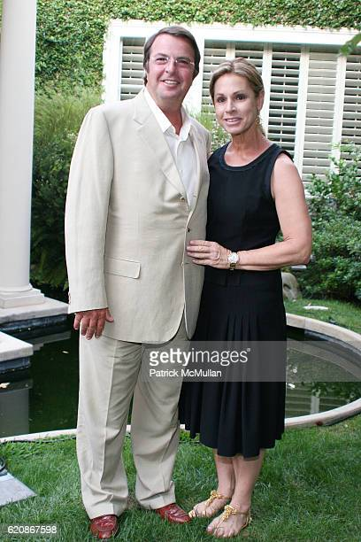 Beny Alagem and Adele Alagem attend Florence Serge Azria Host Mothers Against Gang Violence Benefit at Private Residence on August 13 2008 in Beverly...