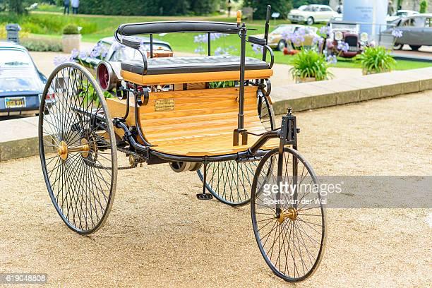 """patente del benz motor-wagen 1886 el primer automóvil del mundo - """"sjoerd van der wal"""" fotografías e imágenes de stock"""