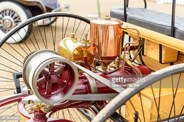 """patente del benz motor-wagen el motor 1886 el primer automóvil del mundo - """"sjoerd van der wal"""" fotografías e imágenes de stock"""