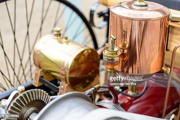"""patente del benz motor-wagen el detalle 1886 del motor el primer automóvil del mundo - """"sjoerd van der wal"""" fotografías e imágenes de stock"""