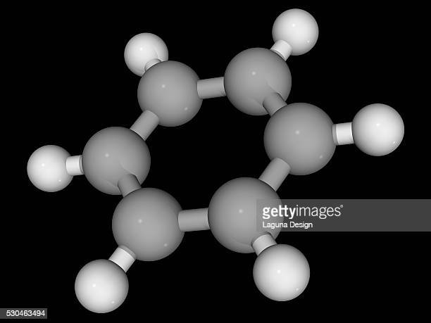 benzene molecule - hydrocarbon stock pictures, royalty-free photos & images