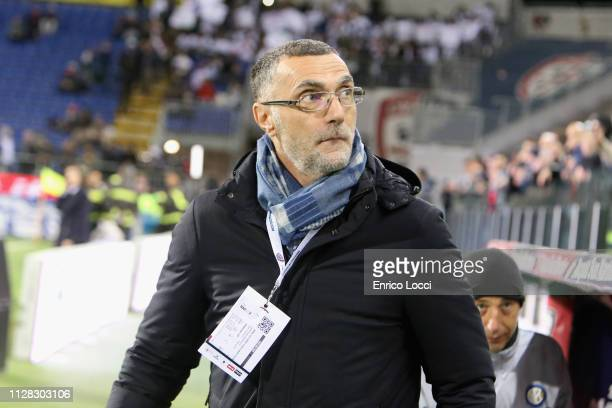 Beppe Bergomi looks on during the Serie A match between Cagliari and FC Internazionale at Sardegna Arena on March 1 2019 in Cagliari Italy