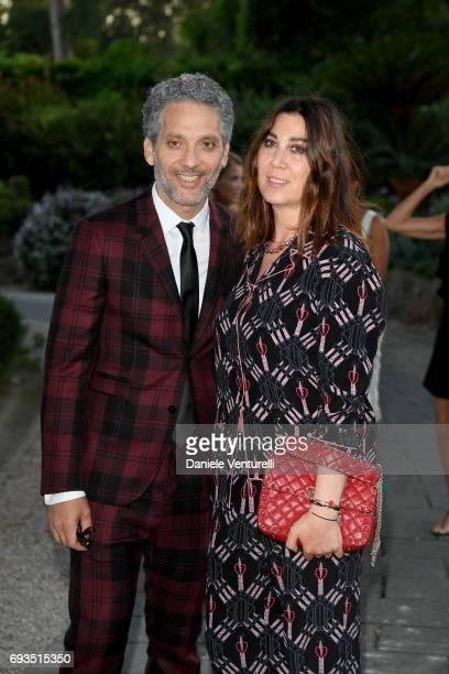 Beppe Fiorello and Eleonora Pratelli attend McKim Medal Gala at Villa Aurelia on June 7, 2017 in Rome, Italy.