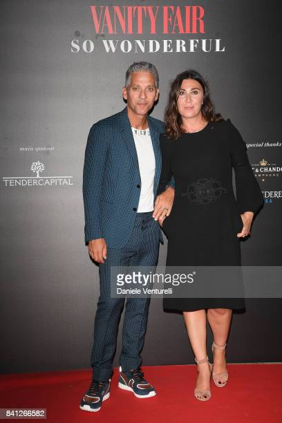 Beppe Fiorello and Eleonora Pratelli attend Vanity Fair 'So Wonderful' Party during the 74th Venice Film Festival at Cipriani Hotel on August 31 2017...