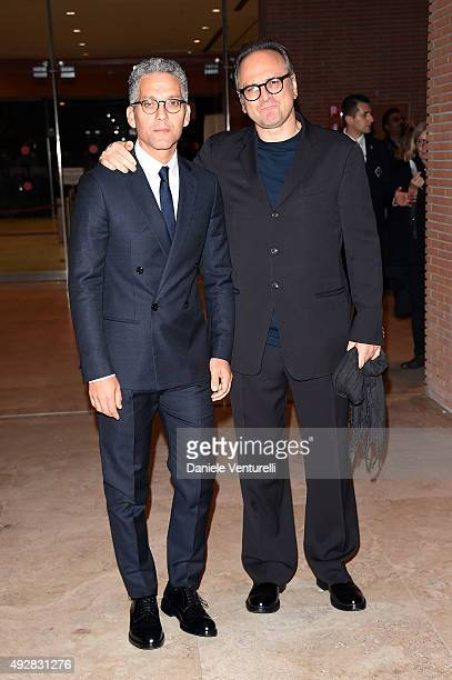 Beppe Fiorello and Massimo Popolizio attend a photocall for 'Era D'Estate' during the 10th Rome Film Fest at Auditorium Parco Della Musica on October...