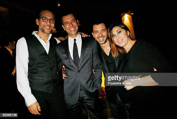 ROME OCTOBER 27 Beppe Fiorello Ivan Cotroneo Andreas Mercante and Eleonora Pratelli attend Galantuomini party at Officine Farneto during the 3rd Rome...