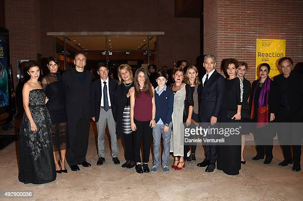 Beppe Fiorello Lucia Borsellino Manfredi Borsellino Fiammetta Borsellino Fiorella Infascelli and Massimo Popolizio attend a photocall for 'Era...