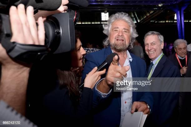 Beppe Grillo attends the event SUM organized by the association Gianroberto Casaleggio Gianroberto Casaleggio was a cofounder of the Five Star...
