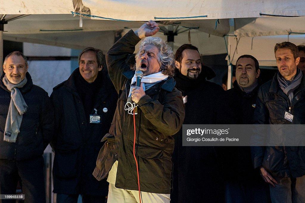 Beppe Grillo 'Tsunami Tour' In Pomezia