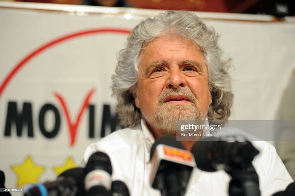Comedian Turned Politician Beppe Grillo Holds A Press Conference About Expo 2015