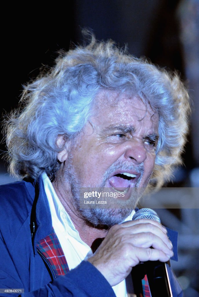 Beppe Grillo Holds Rally For The European Elections