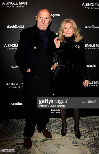 Beppe Modenese and Vania Traxler Protti attend 'A Single Man' Milan Premiere on January 11 2010 in Milan Italy