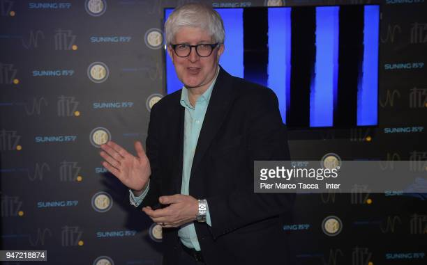 Beppe Severgnini attends the unveiling of FC Internazionale 'Innovative Passion' Concept At Milan Design Week on April 16 2018 in Milan Italy