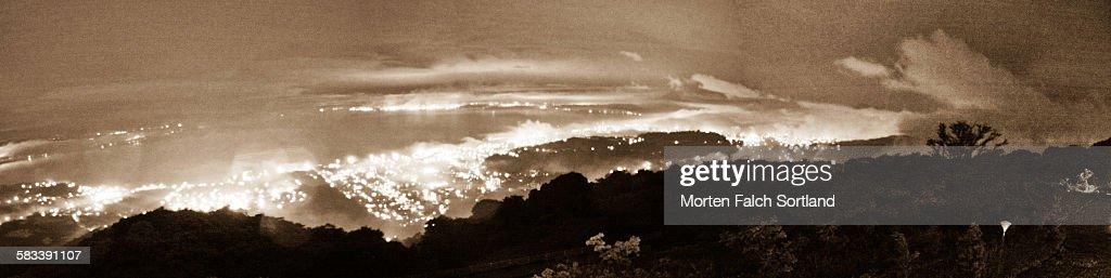 Beppu Bay at night : Stock Photo