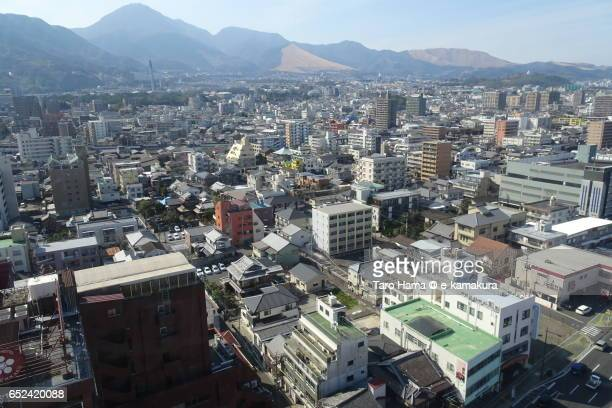 beppu cityscape view from beppu tower - 大分県 ストックフォトと画像